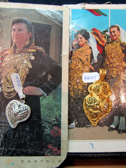 people wearing ridiculous amounts of gold necklaces in Portugal