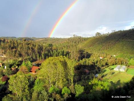 double rainbow over Moura Morta