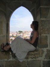 Admiring the view, Lisbon castle