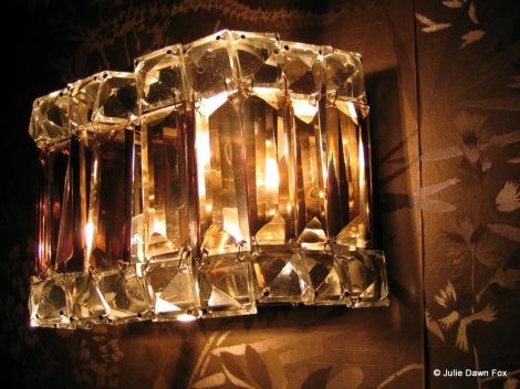 period glass wall light